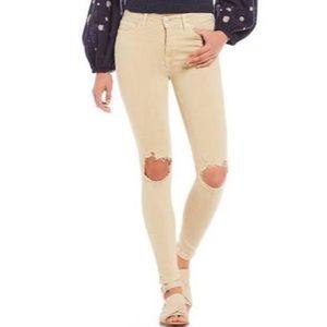 NWOT Free People Busted Knee Khaki Skinny Jeans